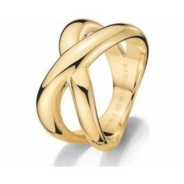 Tommy Hilfiger Masivní zlatý prsten z oceli TH2700964 (Obvod 58 mm)