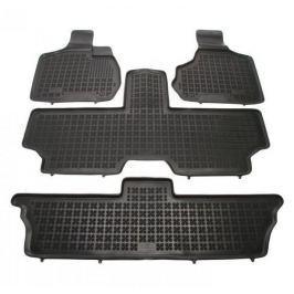 REZAW-PLAST Gumové koberce, sada 4 ks (2x přední, 1x spojený prostřední, 1x spojený zadní), Chrysler Voyager