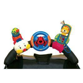 K´s Kids 3 veselé hračky na přichycení suchým zipem (telefon, volant, stonožka)