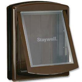 Staywell dvířka s transparentním flapem velká hnědá