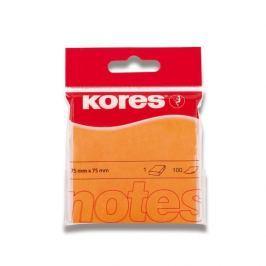 Blok samolepicí Kores 75 x 75 mm/100 oranžový neon