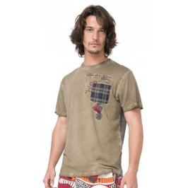 Desigual pánské tričko Javi S khaki