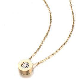 Troli Pozlacený náhrdelník s třpytivým přívěskem