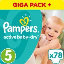 Pampers Pleny Active Baby 5 Junior (11-18kg) Giant Box - 78ks