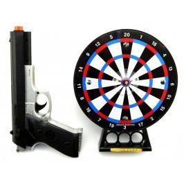 Teddies Pistole laserová 23cm + terč 19cm