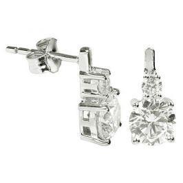 Silver Cat Stříbrné náušnice s krystaly SC126 stříbro 925/1000