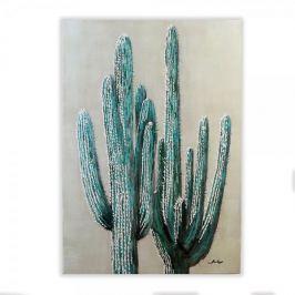 Papillon Obraz Kaktus 100 cm, olej na plátně