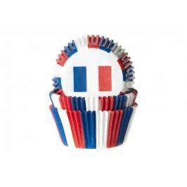 House of Marie Papírový košíček na muffiny vlajka Francie 50ks