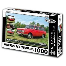 RETRO-AUTA© Puzzle č. 43 - WARTBURG 353 TOURIST (1976) 1000 dílků