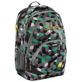 CoocaZoo Školní batoh EvverClevver2, Crazy Cubes Green