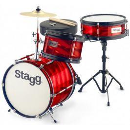 Stagg Junior 3/12B Red Dětská bicí souprava Bicí soupravy