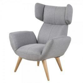 Design Scandinavia Relaxační křeslo s područkami Balea, šedá