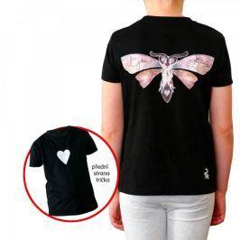 KlokArt dívčí tričko Mini Stella Draws 110 černá