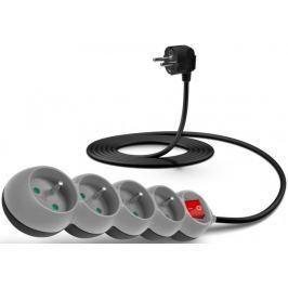 Connect IT Prodlužovací kabel (4 zásuvky; 3 m), šedá