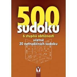 500 sudoku - 6 stupňů obtížností včetně 20 netradičních sudoku (hnědá)