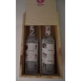 Prémiová řecká suchá vína v dřevěné dárkové kazetě