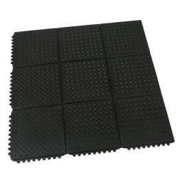 FLOMAT Gumová protiúnavová modulární rohož Diamond Plate Tile - 91 x 91 x 1,4 cm