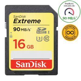 SanDisk SDHC Extreme 16GB 90MB/s UHS-I U3 (SDSDXNE-016G-GNCIN)