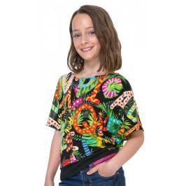 Desigual dívčí tričko Swan 116 vícebarevná