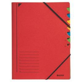 Třídící desky s gumičkou Leitz A4, 7 listů, červené