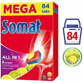 Somat All-in-One Lemon & Lime tablety do myčky 84 ks