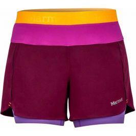 Marmot Wm's Pulse Short Deep Plum/Neon Berry XS Sportovní kraťasy