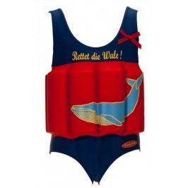 Beverly Kids Dívčí nadnášející plavky Whale 86 modro-červené
