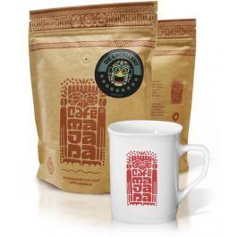 Café Majada Dárkové balení De Excelent zrnková káva 950 g + hrníček