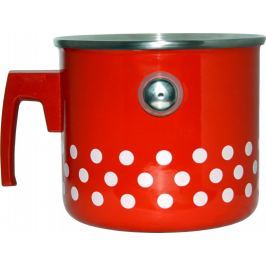 Metalac Mlékovar s píšťalkou červený puntík, 2 litry