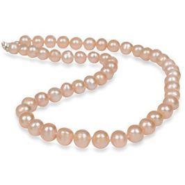 JwL Luxury Pearls Náhrdelník s pravými lososovými perlami JL0267 stříbro 925/1000