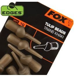 Fox Převleky Edges Tulip Bead Trans Khaki 10 ks