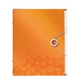 Rozdružovací kniha Leitz WOW 12ti dílná metalicky oranžová