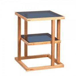 Artenat Odkládací stolek Urban, 45 cm, masiv/sklo