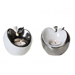 Papillon Čajové svícny keramické Apple, sada 2 ks