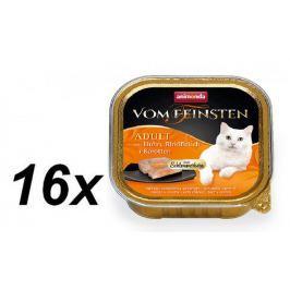 Animonda V.Feinsten CORE kuřecí, hovězí maso + mrkev pro kočky 16 x 100g