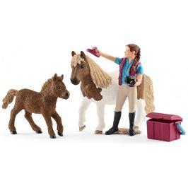 Schleich Ošetřovatelka s shetlandskými poníky 42362