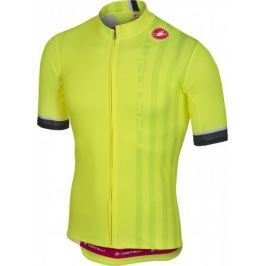 Castelli Podio Doppio Jersey FZ Yellow Fluo L