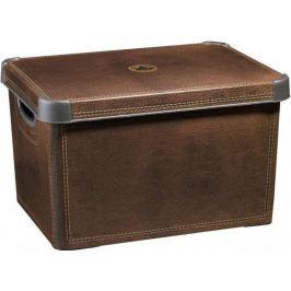 Curver Dekorativní úložný box Leather 25 l