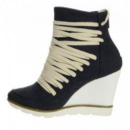 PAOLO GIANNI dámská kotníčková obuv 37 tmavě modrá
