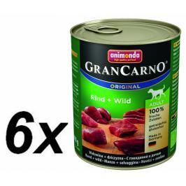Animonda Grancarmo Adult - hovězí, zvěřina 6 x 800g