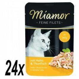 Finnern Kapsička Miamor Feine Filets kuře+tuňák v želé 24 x 100g