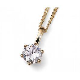 Oliver Weber Pozlacený stříbrný náhrdelník s krystalem Brilliance 61125G 001 stříbro 925/1000