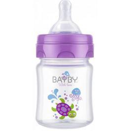 BAYBY BFB 6100 Kojen. láhev 120ml 0m+ (fialová)