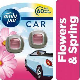 Ambi Pur Car Flowers & Spring Připínací osvěžovač vzduchu 2ks