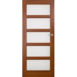 VASCO DOORS Interiérové dveře BRAGA skleněné, model 6, Kaštan, C