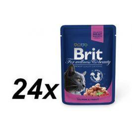 Brit Premium Cat Pouches with Salmon & Trout 24 x 100g Kapsičky pro kočky