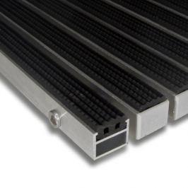 FLOMAT Gumová hliníková čistící vstupní venkovní rohož Alu Standard - 100 x 100 x 2,7 cm