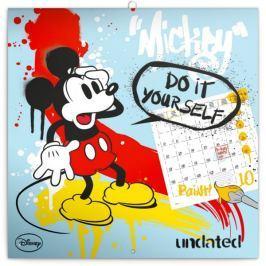 Poznámkový kalendář Mickey Mouse – DIY: omalovánkový kalendář