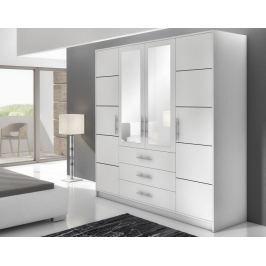 BAALI D4 šatní skříň, bílá