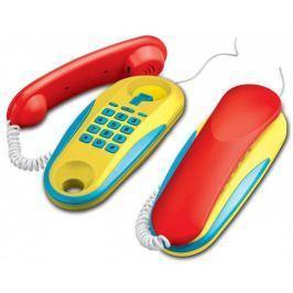 Teddies Telefony pokoj pokoj na baterie 2ks